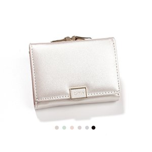 Wholesale New Fashion Designer PU Leather Ladies Short Trifold Wallet With Coin Pocket Luxury Designer Women Small Money Purses Pink