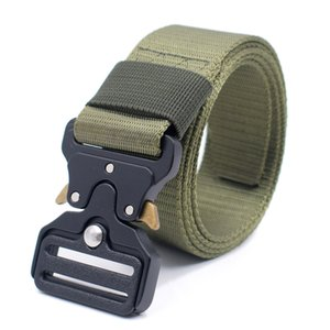 Wholesale Tactical Belts Heavy Duty Gun Work Belt Quick Release Webbing Nylon Belts with Metal Buckle