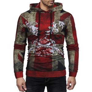 Wholesale Men Hoodies Sweatshirt Fashion Cool Camouflage Tracksuit Casual Long Sleeve Male Hooded Pullover Plus Size