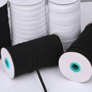 hot 5mm  3mm  6mm Elastic rope of mask ear belt elastic band polyester running belt 3mm flat elastic rope T2I5890