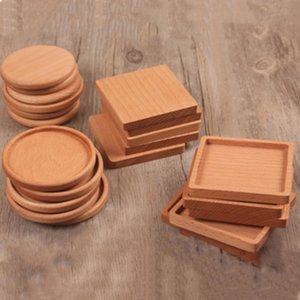 Wholesale NEW Wood Coasters Wooden Wooden Heat Insulated Pad Tea Cup Pads Insulated Drinking Mats Teapot Table mat cup holder T2I5297