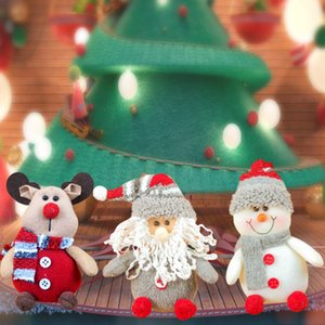 Wholesale Old Man Snowman Elk Christmas Tree Doll Hanging Christmas Doll Pendant Animal Small Pendant Dolls Gift Plush Toys