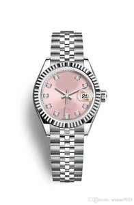 Wholesale 2019 Quality Watches Maker Vintage Woman pink color mm dat Asia Movement Automatic mechanical ladies watch