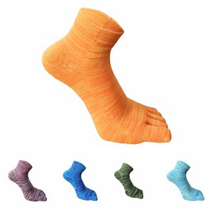 Retro adult five finger toe socks men women stripes soft comfortable cotton blend casual fashion comfortable stocking for 5 different colors