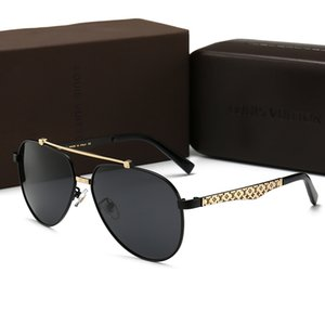 Wholesale Fashion classic Men sunglasses attitude women sunglasses gold frame square metal frame vintage style outdoor design With original Box