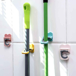 Wholesale Wall Mounted Mop Strong Home Bathroom Hooks Holder Brush Broom Hanger Storage Rack Bathroom Holder Shower Hooks Mop Shelf