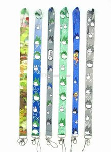 High Quality 50pcs My Neighbor Totoro Key Chains Long Lanyard Id Badge Holders Phone Neck Straps Party Gifts Free Shipping