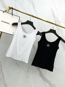 Wholesale European American street sexy luxury nightclub women vest comfortable short breathable chest logo embroidery slim underwear vests