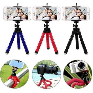 Wholesale tripods for phones resale online - Mini Flexible Camera Phone Holder Flexible Octopus Tripod Bracket Stand Holder Mount Monopod for samsung htc android phone