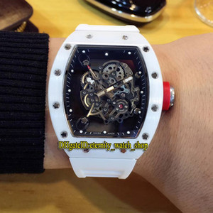 Wholesale miyota watches for sale - Group buy High version RM Skeleton Dial Nano ceramic Composites Case Japan Miyota Automatic RM055 Mens Watch Rubber Strap Sports Designer Watches