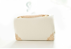 Wholesale Clutch bags fashion lady crocodile grain chain pack single shoulder inclined across flap female bag Messenger bags