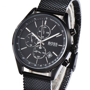 Wholesale Luxury Boss Business Mens Watches High Quality Quartz Stainless Steel Men's Wristwatch All the small dials work With Gift Box
