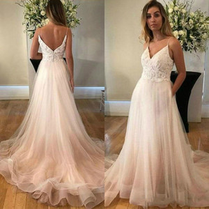 Sexy White Tull Long Prom Dresses With Lace Appliques Cheap Formal Party Gowns Floor Length Spaghetti Arabic Dress For Women Lebanon on Sale