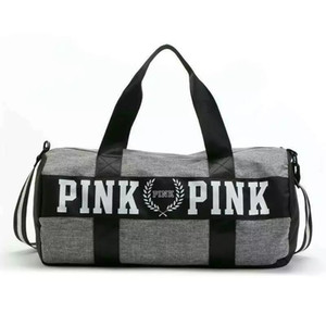 Wholesale designer handbag Handbags Pink Letter Large Capacity Men Women Travel Duffle Striped Waterproof Beach Bag Travel bag Kit Yoga Gym Bags