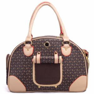 High Quality Classic Dog Out Travel Bag Anti-squeezing Small Dog VIP Bag Folding Storage Box PU Shoulder Carrying Box