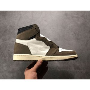 Wholesale 1 High Travis Scotts Cactus Jack Suede Basketball Shoes Dark Mocha TS SP M Mens s trainers sports Sneakers size With Box