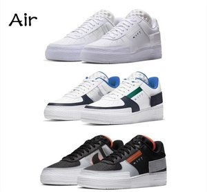 Wholesale Air N men forced GS casual low top ladies blue and white air sports training shoes designer shoes