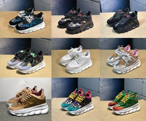 Wholesale Chain Reaction Designer Sneakers Sport Fashion Casual Shoes For Men And Women Trainer Lightweight Link Embossed Sole