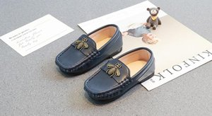 New Spring Children's Shoes, Children's Leather Shoes, English Single Shoes, Baby's Soft-soled Shoes on Sale