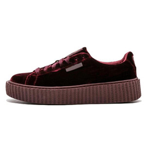 Wholesale Rihanna Fenty Creeper PM Classic Basket Platform Casual Shoes Velvet Cracked Leather Suede Men Women Fashion mens Designer Sneakers gfm