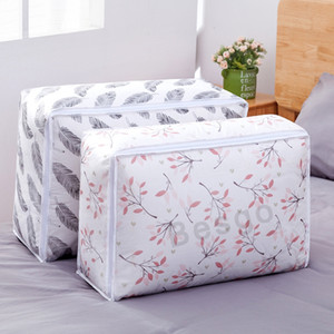 Wholesale transparent clothes storage bag for sale - Group buy Thick PEVA Quilt Storage Bag Print Transparent Foldable Clothing Blanket Pillow Bedding Organizer Pouch Home Closet Storage Bags DBC BH2758