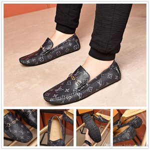 Wholesale iduzi New Fashion Luxurious Designers Men s Genuine Leather Flat Business Dress Shoes Brand Men Slip On Loafers Oxfords Size