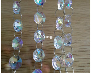 Wholesale chandelier crystals for sale - Group buy New AB Color Meters mm Octagon Chain Wedding Party K9 Crystal Strand Garland Beads Decoration Chandelier Lamp