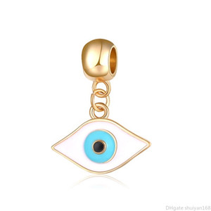 Wholesale Turkey Evil Eyes Charms Pendant Fashion Vintage Diy Jewelry Accessories Charm Beads Fit for Bracelet Bangle