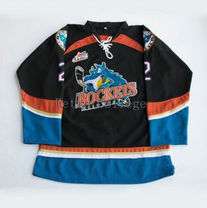Kelowna Rockets #7 Lucas Johansen 10 Duncan Keith 2 Shea Weber Men's RETRO Hockey Jersey Embroidery Stitched Customize any number and name on Sale