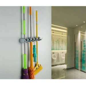 Wholesale MultifunctionalHooks Kitchen Wall Mount Hanger Storage Mop Brush Broom Organizer Holder Coat hook