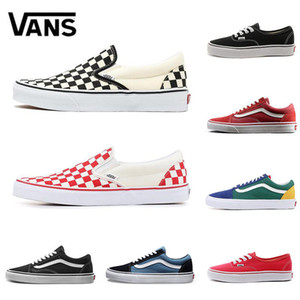 Wholesale Original Old Skool Sk8 Fear OG classic Men Women Canvas Sneakers CHECKERBOARD RED Black White YACHT CLUB MARSHMALLOW Skate Casual Shoes