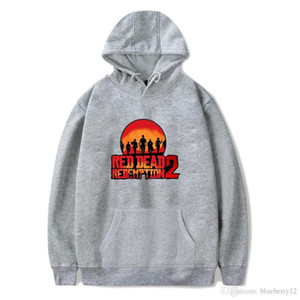 Wholesale Red Dead Redemption2 Mens Hoodies Colors Types Of Pattern Long Sleeve Sweatshirt Fashion Printed Hoodie Vogue