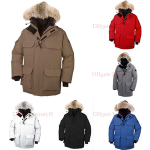 Wholesale Top Raccoon Fur Men Winter Jacket Men s Goose Down Jacket Puffer Jackets North Parka Mens Coat Trench Coats Long Warm Doudoune Homme XL