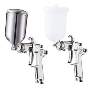 Wholesale Air Spray gun Cup Hand CC Air Paint Spray Gun Inch Thread connector Thread Paint Cup W W Airbrush