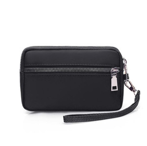 Wholesale cosmetic bag black resale online - 2019 High quality new fashion men travel toilet pouch women cosmetic organizer make up bag famous classical toiletry bag with dust bag