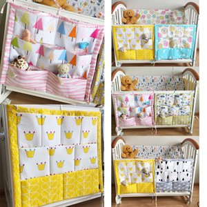 Wholesale cot cm Muslin Tree Crib Bedding Set Cot Bed Hanging Storage Bag Diaper Organizer Crib Organizer Diaper Pocket for Baby