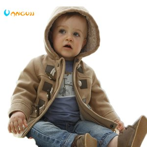 Wholesale 2016 Winter Fashion Horn Button Child Thickening Outerwear Overcoat Male Child Outerwear Boy Jacket Retail