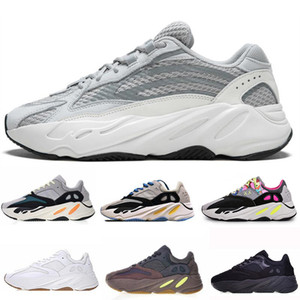 Kanye West 700 Wave Runner Running Shoes For Mens Womens 700s V2 Static Sports Sneakers Mauve Solid Grey Luxury Designer Shoes Size 36-46 on Sale