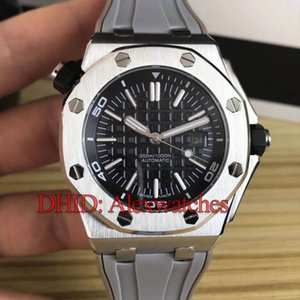 Luxury Mens Watches 42mm watch 316L Stainless Stainless Watch Automatic Watch Sport Grey Rubber Band Mechanical Wristwatches Montre De Luxe