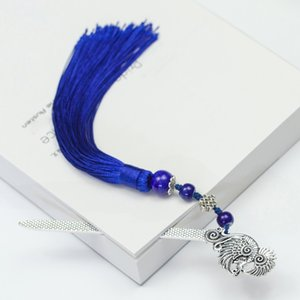 Long Novelty Tassels Metal Bookmark Weave Hair Clasp Shape Retro Beads Chinese Style Gifts Handmade Vintage Traditional