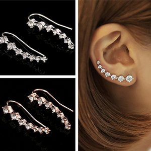 Korean version of the high-end Korean drama with the rhinestone long bride earrings wedding ball ladies birthday Valentine's Day gift earrin