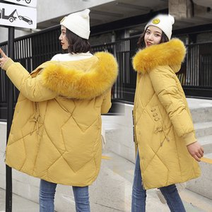 Wholesale Down parka long heavy hair brought more cotton down cotton padded jacket