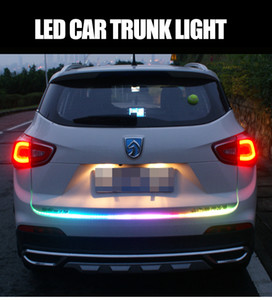 Wholesale Car accessor LED Car decoration lights colorful taillights streamer led marquee steering brakes modified trunk anti tailing lights