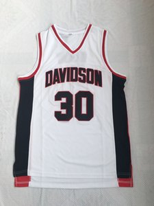 Wholesale top quality NEW Davidson College basketball jersey black white for men high school drop shipping