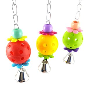 Wholesale Cute Pet Bird Toys Parrot Bites Climb Chew Toys Bell Swing Cage Hanging Parakeet Budgie Products Pet Bird Supplies