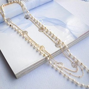 Wholesale Korean Style Women MultiLayer Long Pearl Necklace Pendant Sweater Chain Body Jewelry