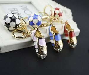 Wholesale Football Soccer Shoes Keychain World Cup Metal Car Purse Bag Buckle Pendant Keyrings Key Chains Women Gift