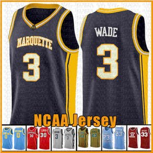 ingrosso maglia da basket eagles -3 Wade Rodman Richards Marquette Aquila Jerseys NCAA Curry Davidson Wildcat College Baskey Jersey Leonard Irving curry