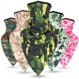 Wholesale Ice Silk quick drying Camouflage Triangle mask breathable riding mask Military Tactical scarf Sunscreen Windproof triangle mask ZZA17