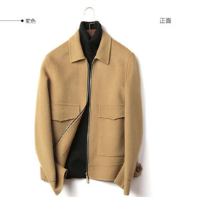 Wholesale New woolen coat men's short handmade wool jacket woolen coat no cashmere double-sided autumn and winter